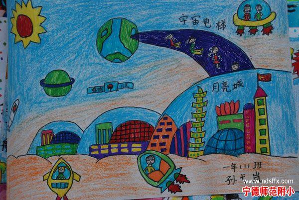儿童科幻画作品;