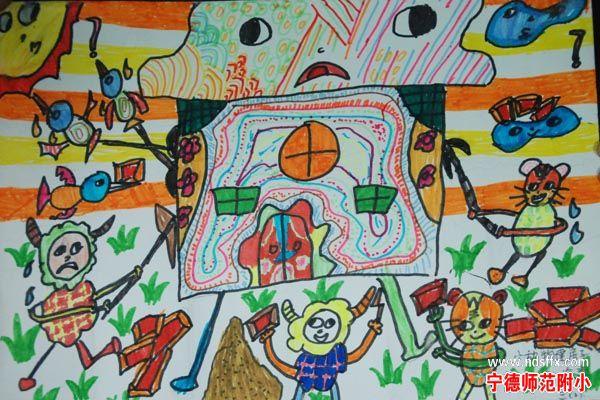 三年级学生科幻画作品展示
