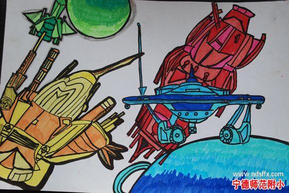 绘画风景六年级展示