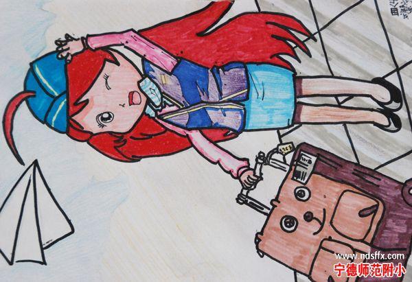 小学生科幻画; 小学生科幻画作品; 小四年级画画作品图片