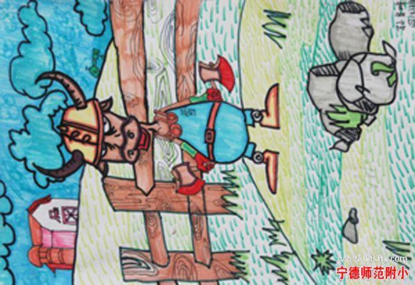 四年级画画作品10岁4k兔子和小猫图片